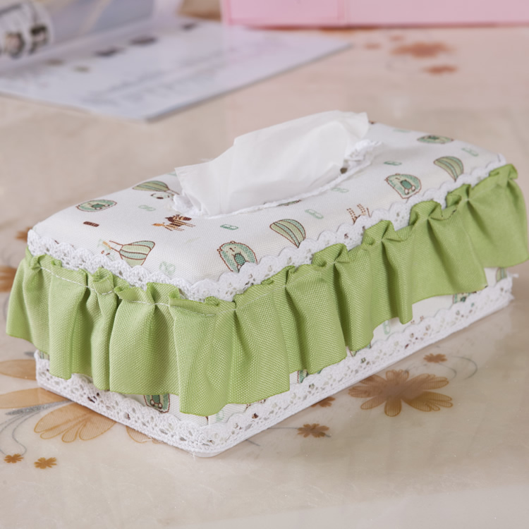 003 pastoral fabric tissue box pumping pumping paper carton box jewelry box cosmetic box bread box storage box new