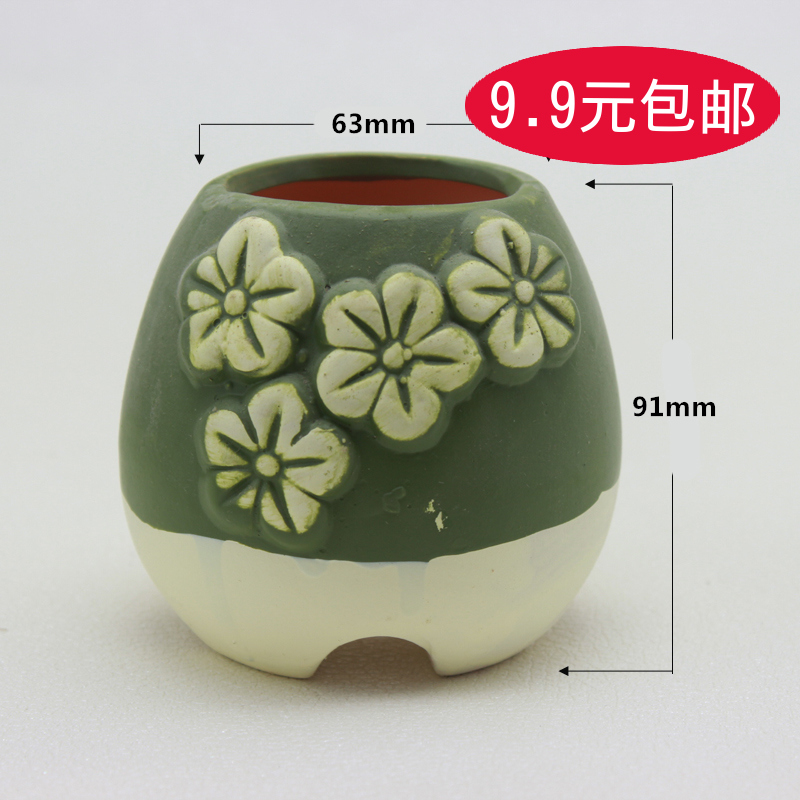 007 green succulents ceramic pots plastic pots large potted plants flower garden flower creative arts and free postage