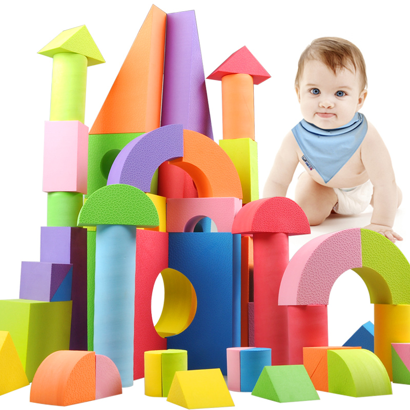 011 sier fu eva foam chunk of software building blocks puzzle play aids infant baby child under the age of one year old 3-6 and 2