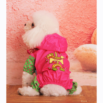 1 free shipping cartoon fun pet dog raincoat big dog legs raincoat raincoat golden teddy large and small dogs