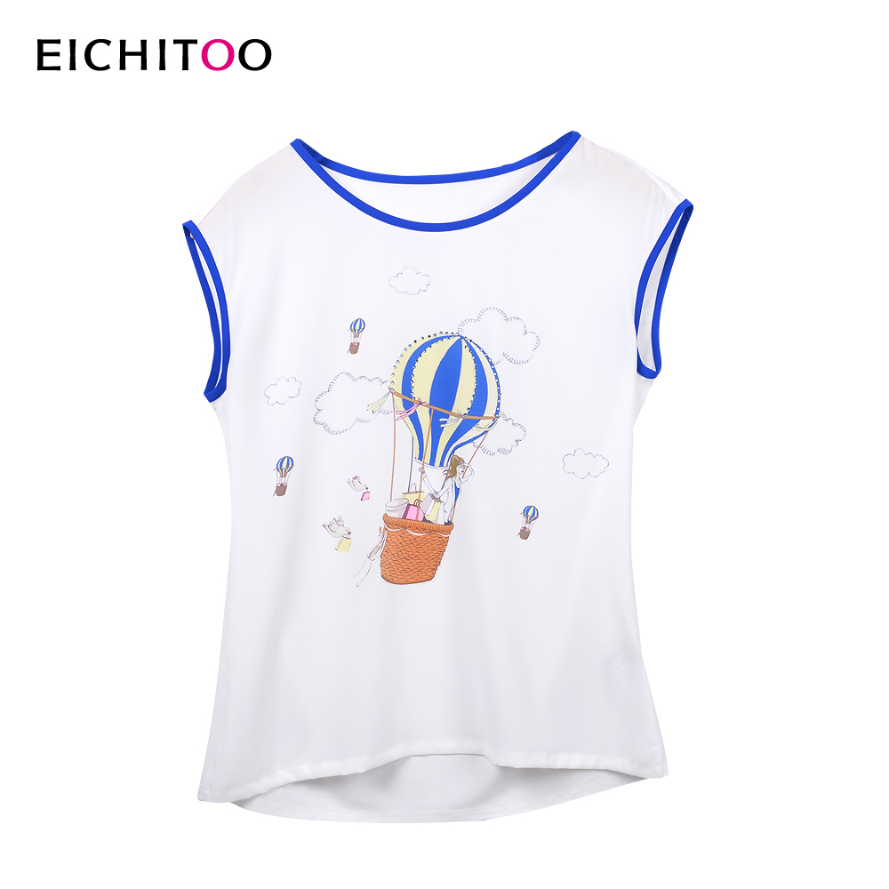 [1 pieces 2 pieces of 88 discount 5 fold] habitat love rabbit 2016 summer hot women hit color printing short sleeve t-shirt
