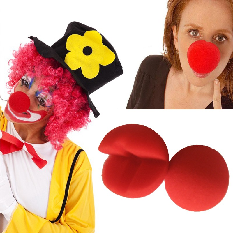Fun point cos halloween props cosplay accessories funny clown nose red clown nose big nose