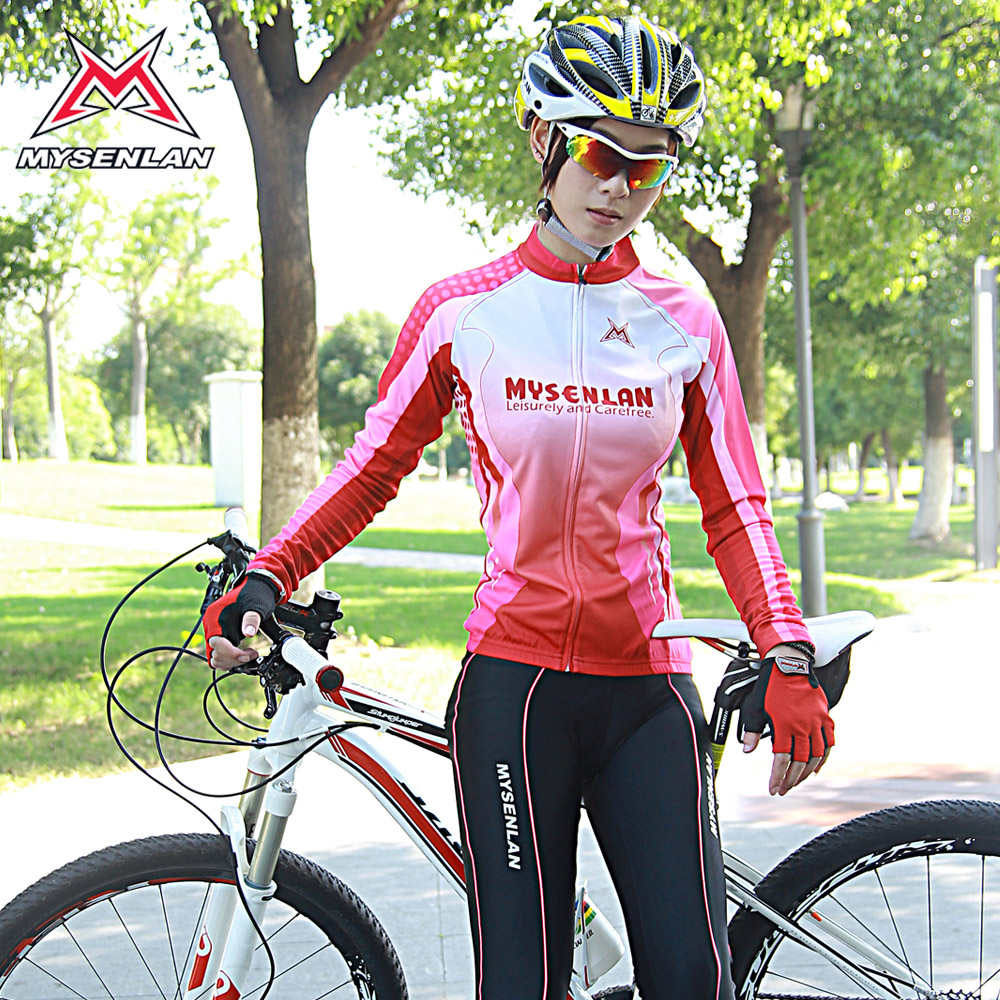 Mai senlan genuine spiritual celza jersey shirt female cycling jersey long sleeve shirt female summer clothes