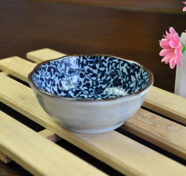 Japanese imports of ceramic tableware japanese guy burning ancient stained jingtang grass 3.0 flower small bowl condiment bowls