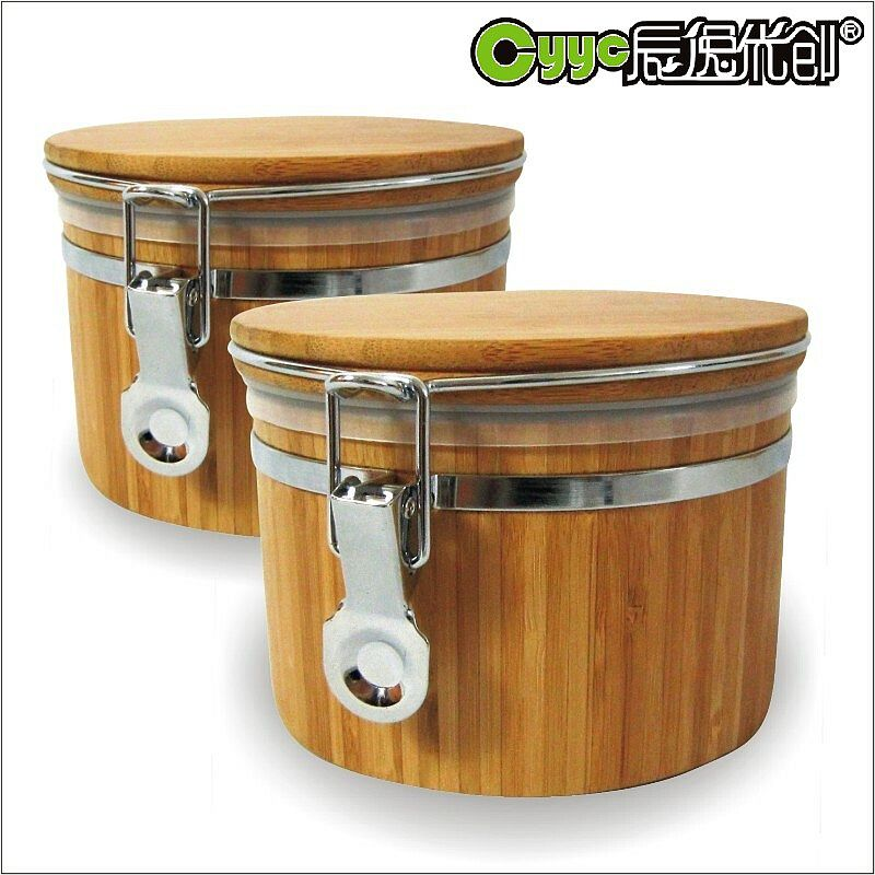 Chen yi gifted bamboo kitchen storage box sealed cans moisture grains storage tank storage tank milk tea pot specials