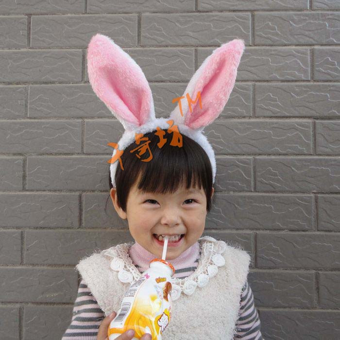 Creepy place children's day performances dress bunny rabbit plush bunny ears headband rabbit ears headband