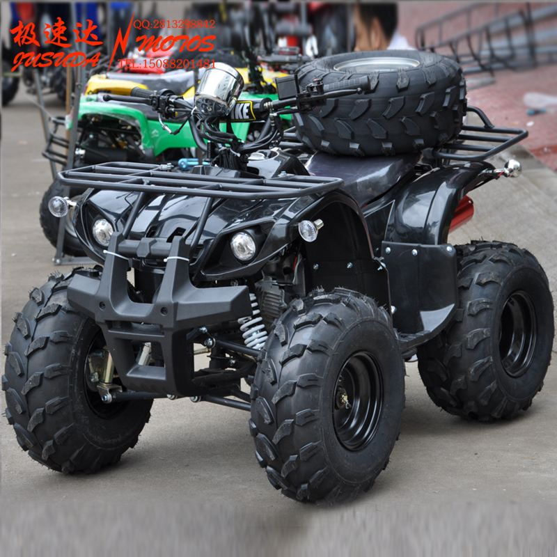 125 7 inch small bull atv atv motorcycle sport utility vehicle four dual exhaust speed up deals