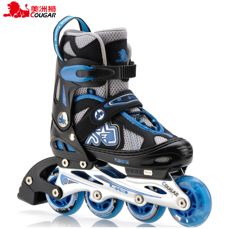 Cougars inline skates roller skates adult children skates adjustable flash inline skates roller skates adult skates roller skates skate shoes