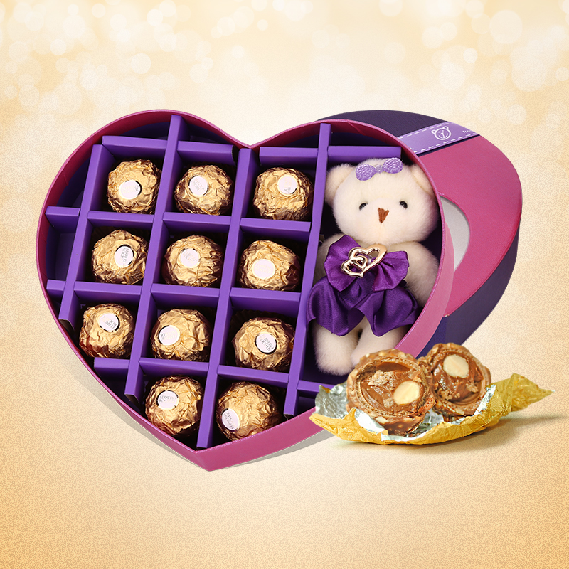 Gift Items For Ladies Part - 25: Get Quotations · 11 Ferrero Chocolate Containing Samelitter Shaped Love Gift  Birthday Gift Holiday Gift Items