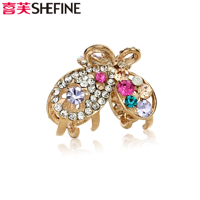 Hi fu hair korean jewelry sparkling diamond tiara elegant butterfly bangs small hairpin hair clip scratched a