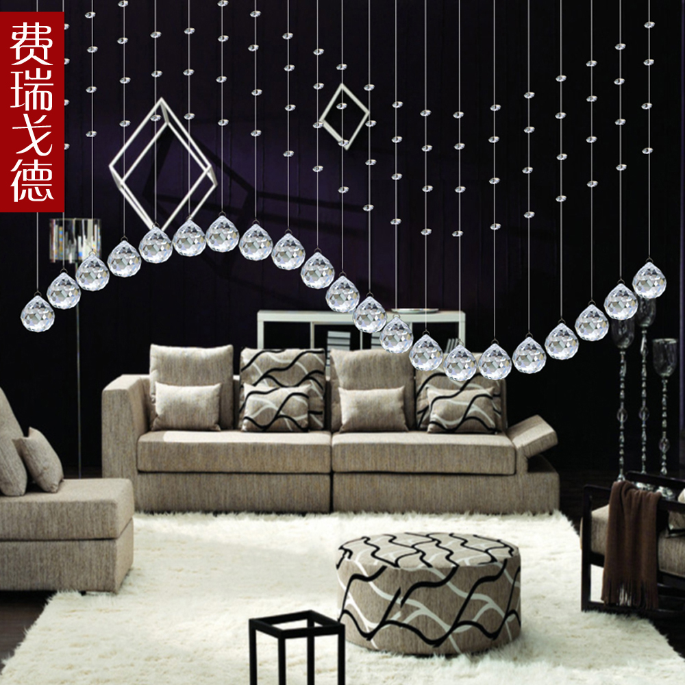 Feiruigede crystal bead curtain partition curtain crystal bead curtain curtain curtain air curtain finished off the mysterious curtain shoe