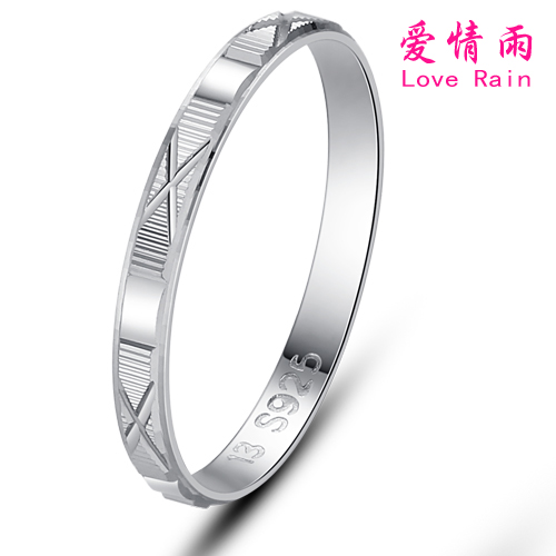 Cheap female ring love rain simple fashion 5 sterling silver ring tail ring korean silver jewelry free lettering shipping