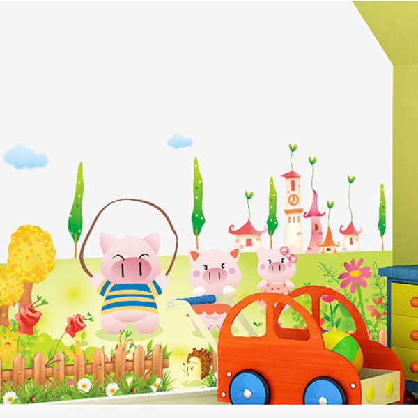 Nursery wall stickers removable wall stickers cartoon children's room decor nursery wall sticker decoration furniture