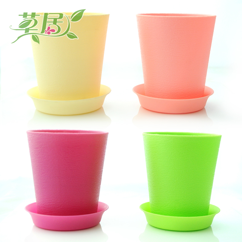 Rustic mini color gardening pots and more meat pots nursery pots plastic resin pots pots