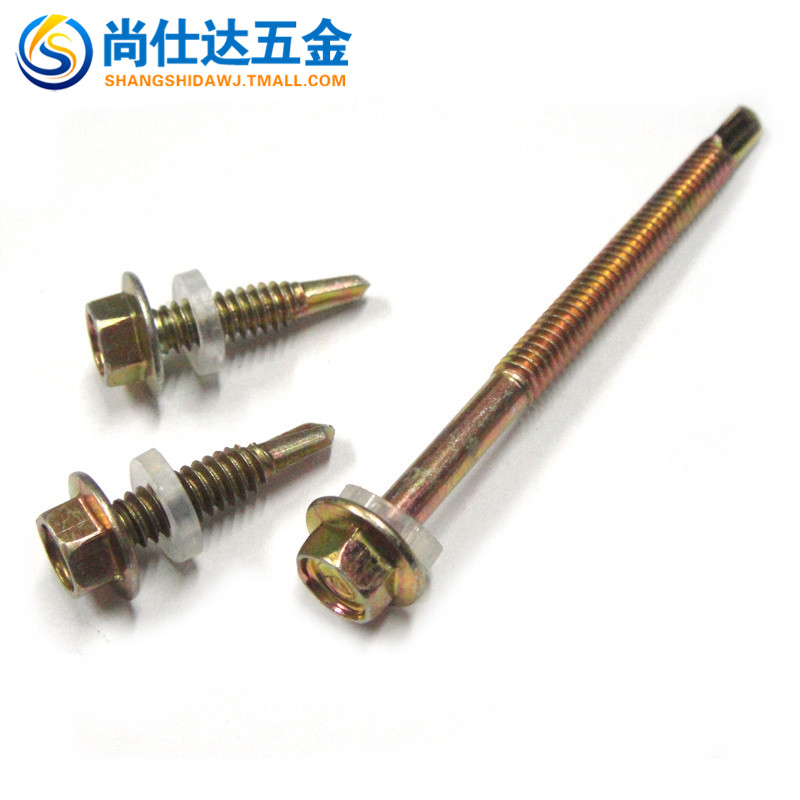 Hex self drilling self tapping screws with hex pad drilling screws self drilling screw steel tile metal special m5.5