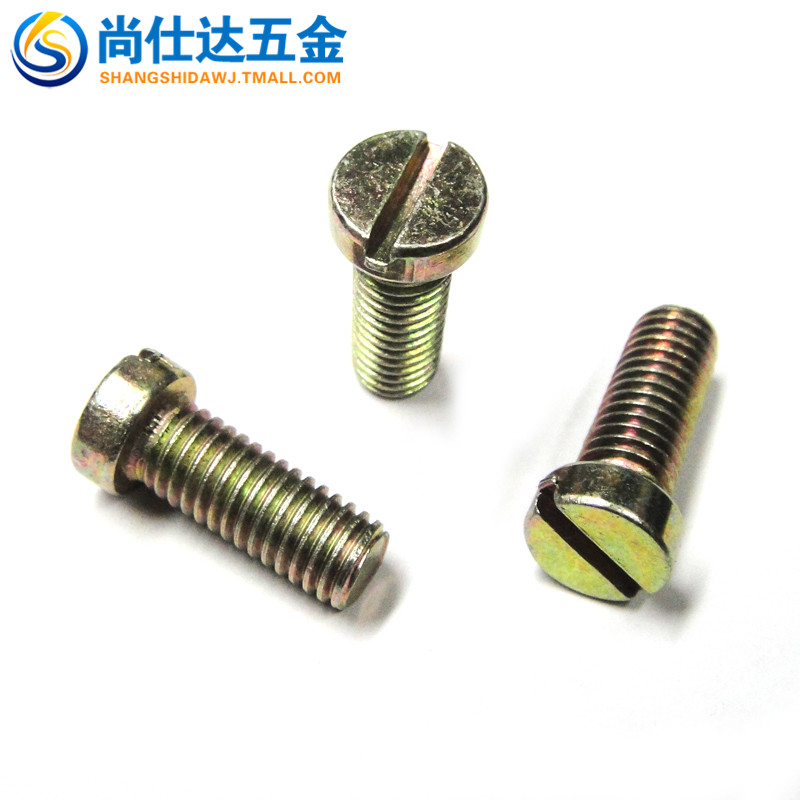 Slotted cylinder head screws color zinc plated screws gb65 word word slotted screw screw m10