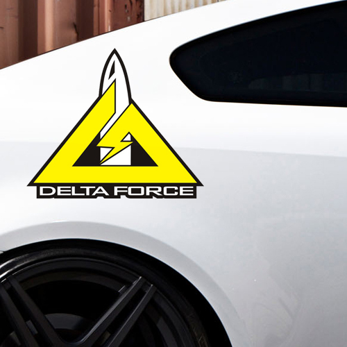 Small carriage goods reflective car stickers decorative stickers personalized car stickers maverick delta force c105