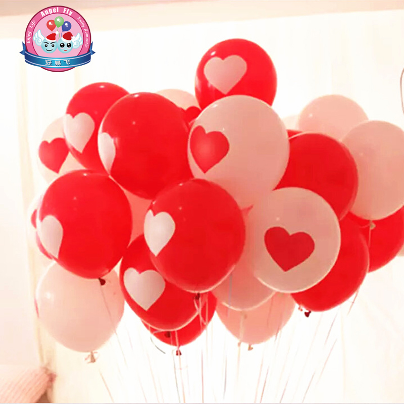 12 inch thick latex balloon printing balloon wedding marriage room layout wedding supplies balloon wedding decoration christmas