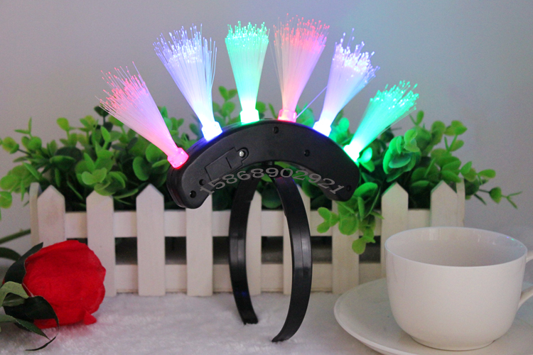 1213 chong cheng electronic flash light emitting fiber tiara headband west mogan christmas dance party supplies