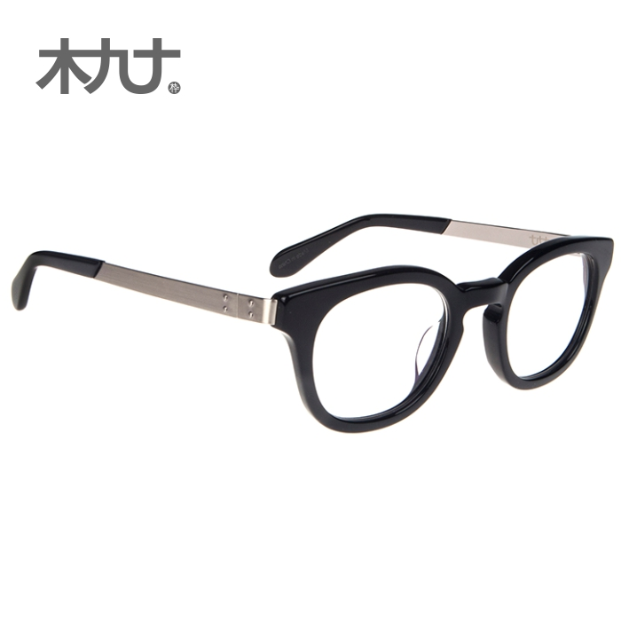 f3fa5722c55a Get Quotations · Wood ninety counter new 26019G sheet metal temples eyeglass  frames for men and women the influx