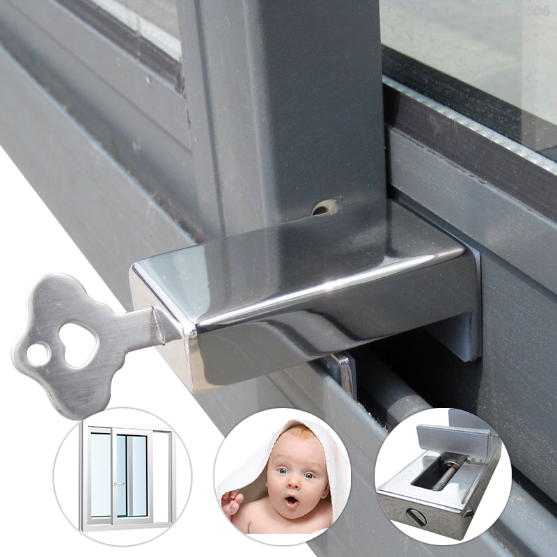 Aluminium windows window lock window lock shift window lock steel window lock security lock child safety lock sliding doors and windows free installation