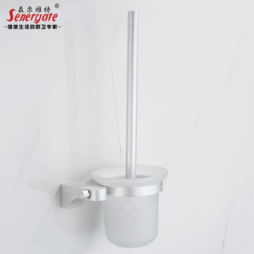 Thick solid aluminum space toilet toilet toilet brush holder cup suite bathroom toilet toilet brush holder bathroom toilet brush