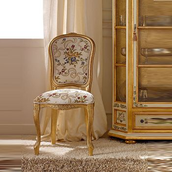 Zuoshi home neoclassical carved wood dining chair fabric reception chairs y4123