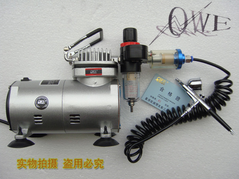 Taiwan ou weier OWE-20 hd130 airbrush airbrush art airbrush pump air pump spray pump with dual water gretl trachea