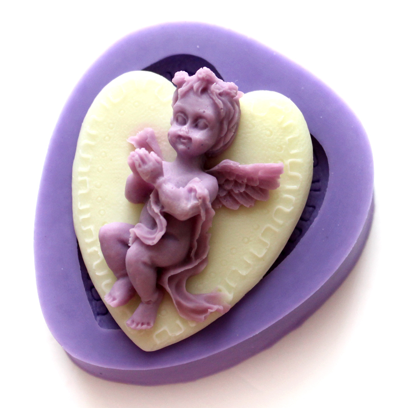 Nicole silicone mold angel baby silicone mold chocolate fondant cake mold silicone mold