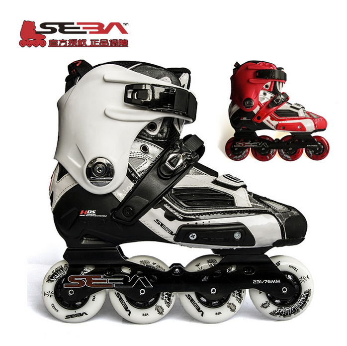 13 classic models seba-hv skate black and white adult inline skates inline skates roller skates adult men and women