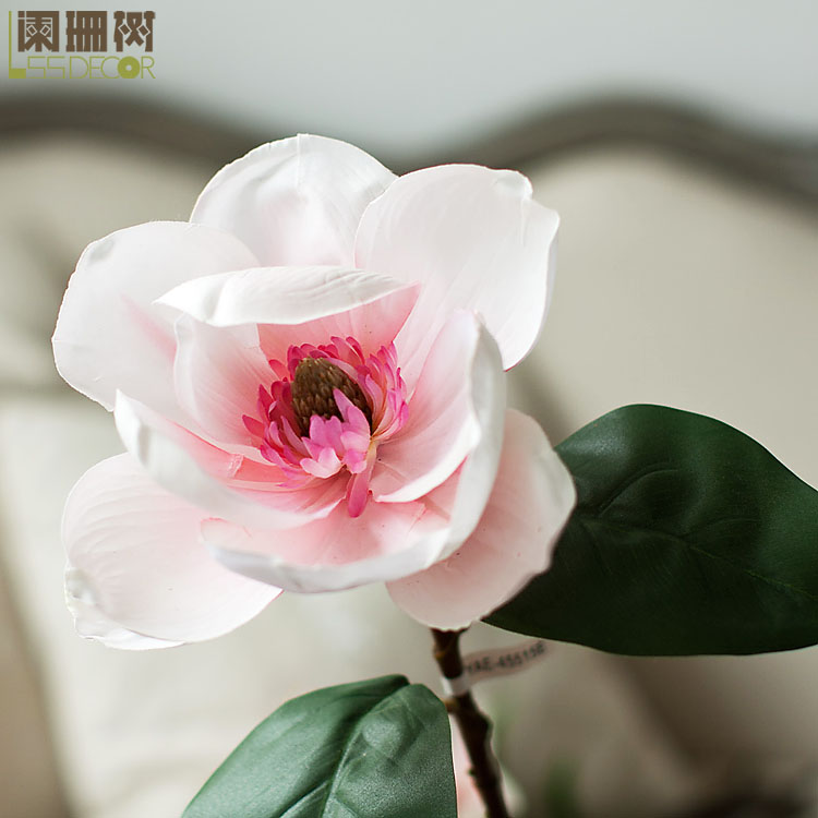 Waning tree-feel full plastic magnolia flowers artificial flowers home decoration artificial flowers artificial flowers artificial flowers silk flower floral