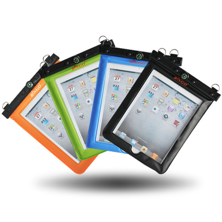 Bingo ipad tablet waterproof bag waterproof bag drifting outdoor waterproof cover protective sleeve shell four color options