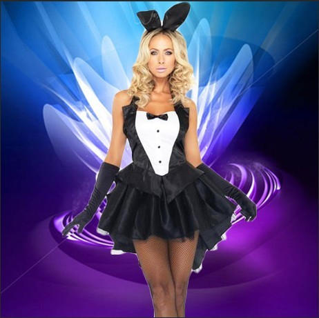 Sexy bunny uniform temptation ds nightclub swallowtail bunny rabbit dress costumes halloween party photography
