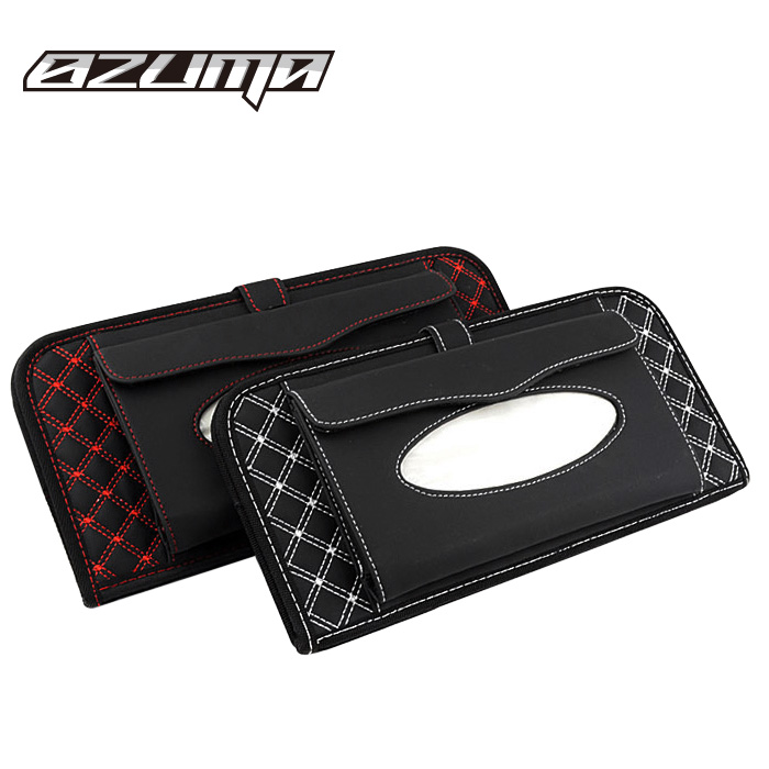 Wine series car cd visor clip tissue pumping multifunction car cd folder cd bag car storage bag set