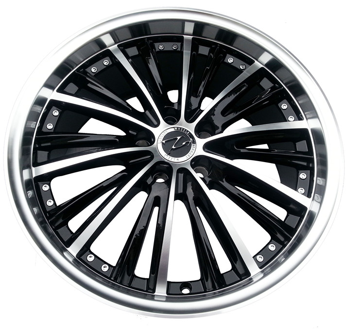 Black car surface stainless steel edging vipmax 18 inch alloy wheels rims