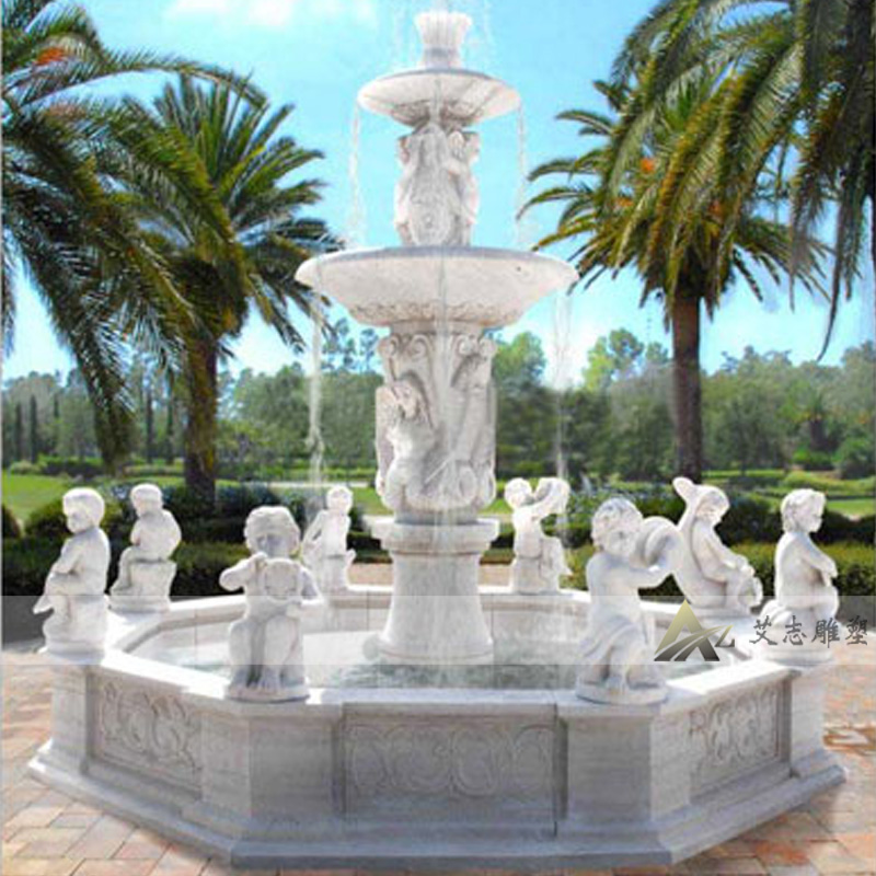Large outdoor fountain marble fountain factory customized hotel euclidian fountain fountain fountain animals