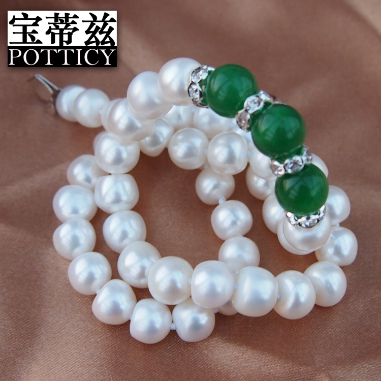 Bao dizi pearl [jennifer love] 9- 10mm freshwater pearl necklace agate necklace for her mother to send her mother