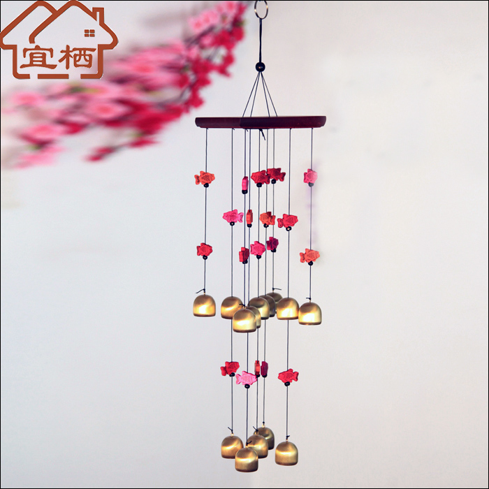 14 color fish chimes copper bell chimes copper wind chimes copper metal wind chimes wind chimes door trim ornaments gift