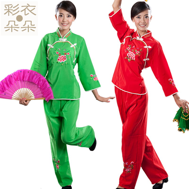 Special han clothing dreamcoat blossoming embroidered waist drum fan dance clothes younger stage performance clothing dance dress 2002