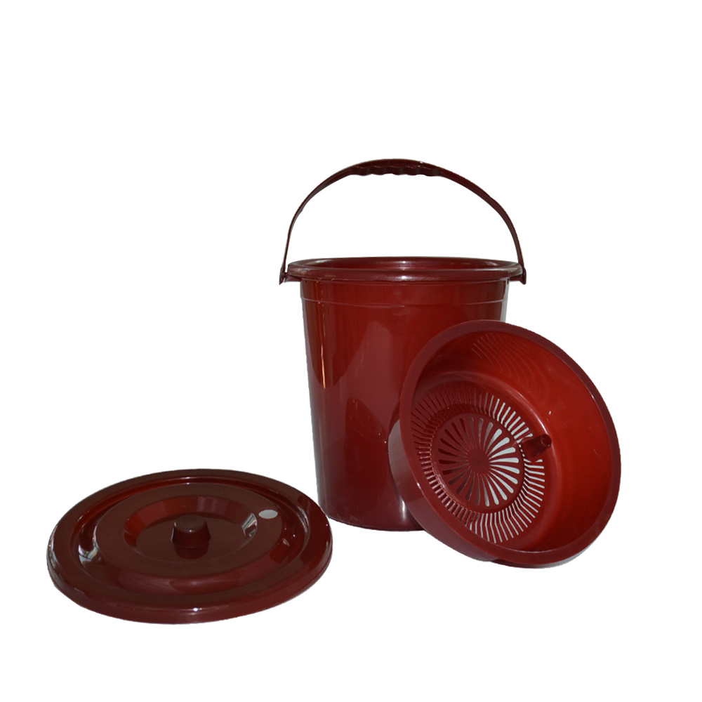 Promotional offers plastic pick tea bucket drain bucket bucket bucket thicker type circular plastic bucket of tea tea leaves tea bucket with lid new