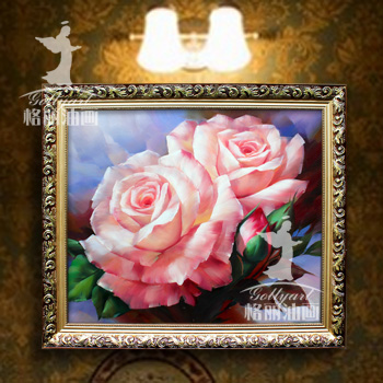 Bulgari electrical box decorative painting modern bedroom living room paintings pure hand painted oil painting restaurant entrance flowers pink roses