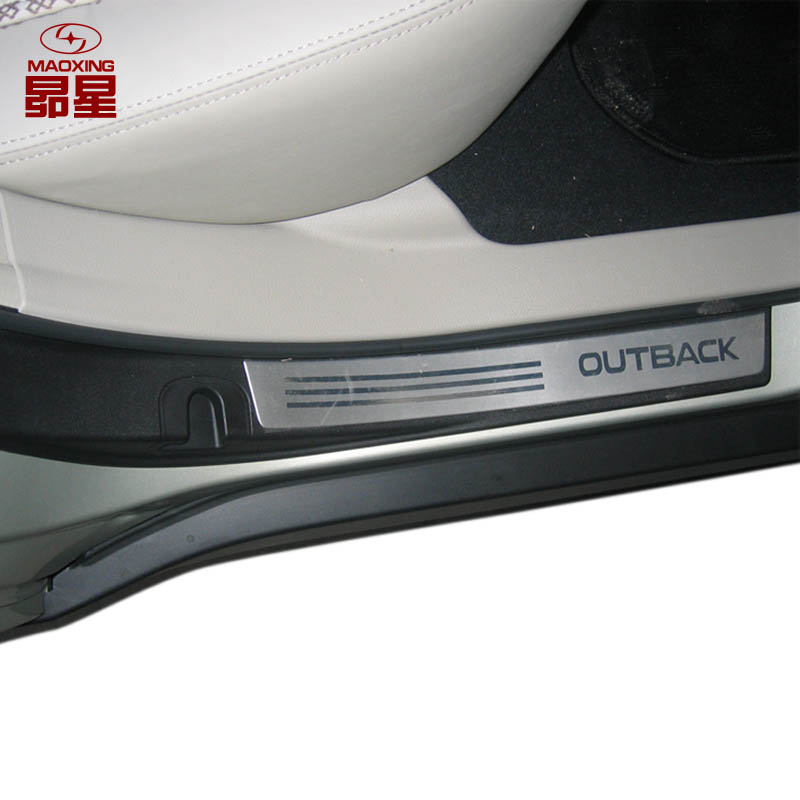 Were 36 per cent of the subaru subaru outback special door welcome pedal car sill trim strip decorative modification