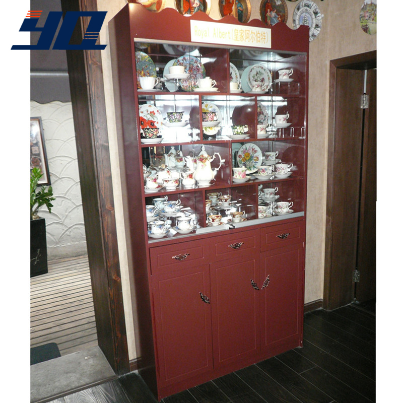 Angelina yq custom paint wooden showcase veneer wooden showcase showcase fine display rack showcase porcelain