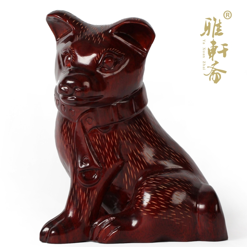 Dog t woodcarving wood carving wood carvings mahogany wood crafts ornaments cai dog zodiac dog feng shui home furnishings super cute