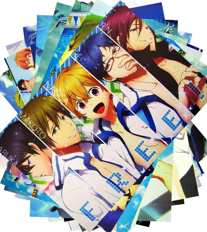 Kaman garden men's swimming department free! 8 suit poster anime poster embossed poster poster poster
