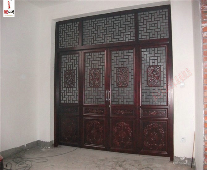 Dongyang wood carving antique chinese custom hollow carved antique wood carving wood latticed door doors interior doors