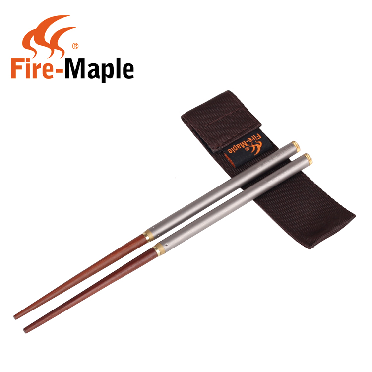 Fire maple fire maple t17 titanium folding chopsticks mahogany chopsticks chopsticks portable outdoor fire maple outdoor camping picnic tableware