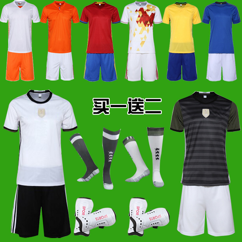 15-16 club football clothes suit adult/child soccer team football clothes training game jersey buy custom