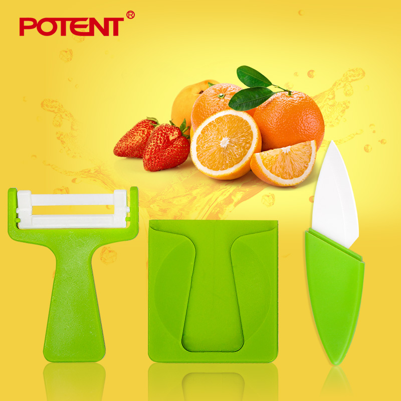 Perot very potent ceramic knife fruit knife ceramic knife ceramic fruit peeler fruit planer removable deck