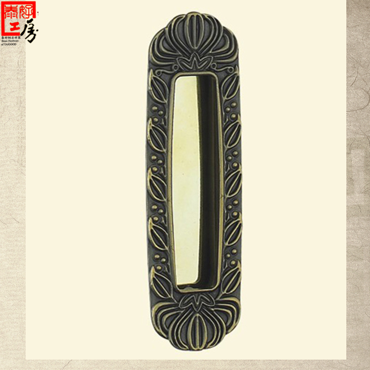 Thai good kobo copper sliding door handle sliding door locks chinese antique copper handle cabinet door handle antique copper shipping